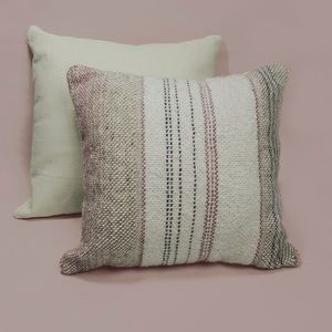 Shabby Chic Handwoven Accent Pillow